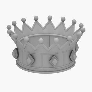 3D model crown queen print