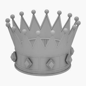 crown king print 3D model