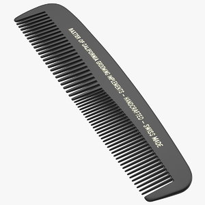 3D baxter california pocket comb model