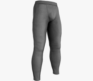skinny medieval pants gray 3D