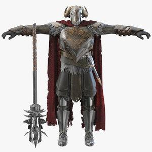 3D monster warrior