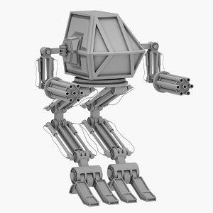 3D robot mech warrior model