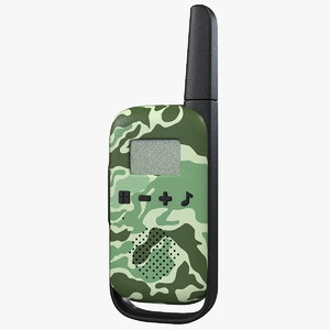 3D walkie talkie portable radio model