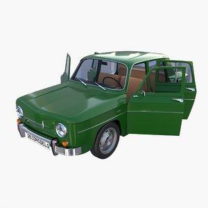 renault 8 interior car details 3D model