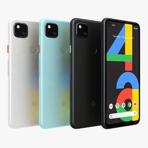 3D google pixel 4a color