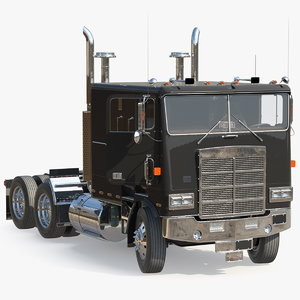 cabover truck rigged cab 3D model