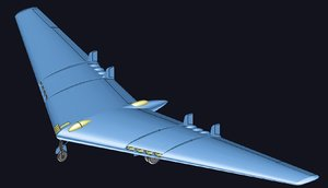 3D northrop yb-49 solid assembly model