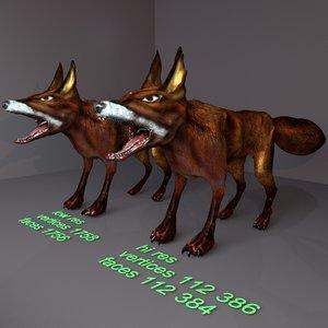 fox anubis 3D model