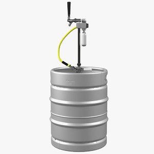 3D beer keg 50l portable