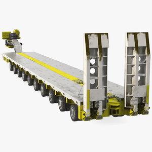 steerable heavy transport trailer model