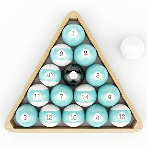 3D model wood pool triangle