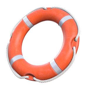 3D lifebuoy life buoy model