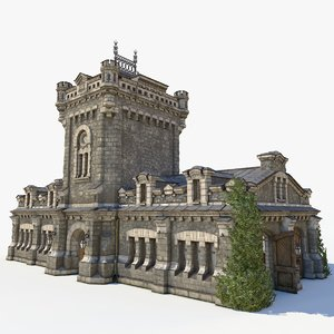 3D medieval warehouse model