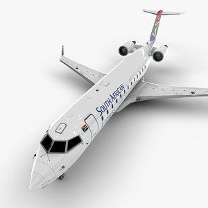 african express bombardier crj 3D model