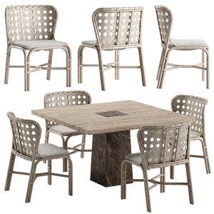 3D mcguirefurniture exalt chair querini model