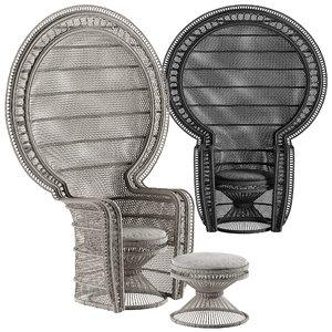 melek armchair model