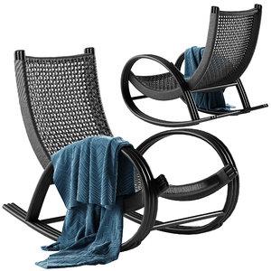 rollick rocking chair 3D