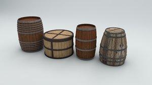 barrels cask bucket 3D