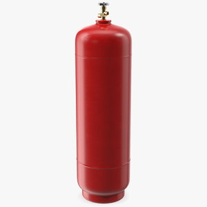 3D acetylene gas cylinder