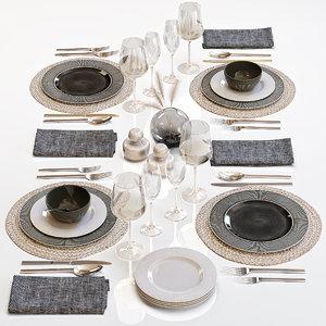 3D table setting 29 decor model
