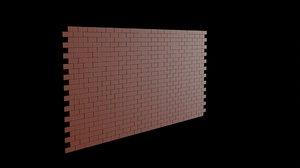 brick wall 3D