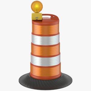 3D barrel barricade