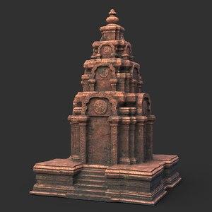 temple medieval architecture ruin 3D model