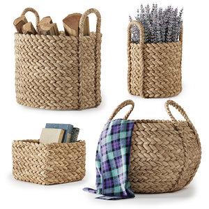 3D pottery barn beachcomber baskets