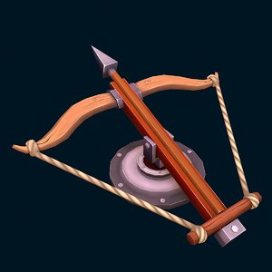 3D model stylized ballista