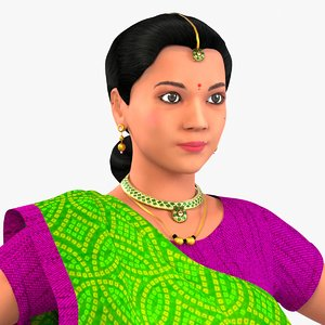 character indian 3D model