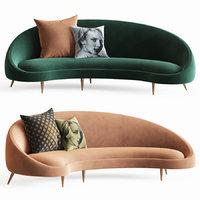 Jonathan Adler Ether Curved Sofa