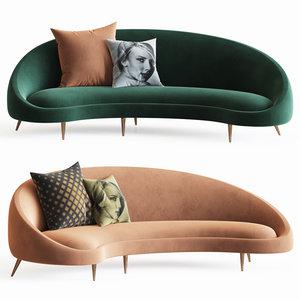 jonathanadler ether curved sofa 3D