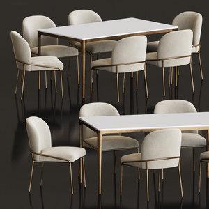 3D dining set 83