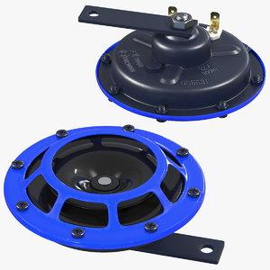 electric 12v car horn 3D