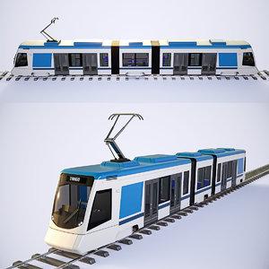 3D stadler tango tram 4k
