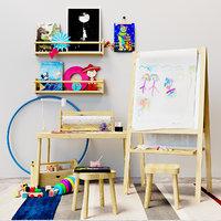 Childrens decor easel Ikea set