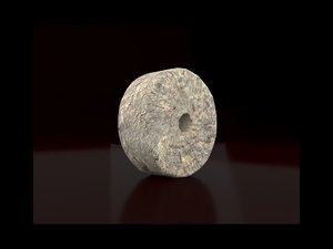 3D stone wheel model