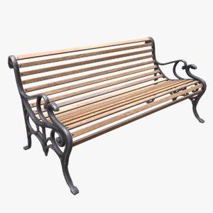 park bench pbr model