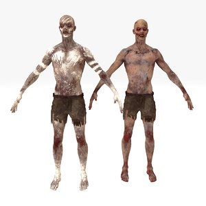 2 1 zombie rigged 3D model