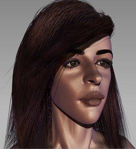 camila cabello 3D model