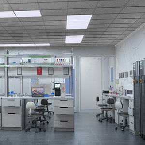 3D scientific laboratory lab model