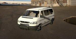 3D model volkswagen transporter tdi van