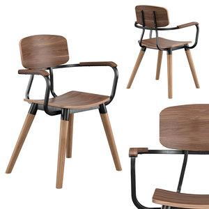 norfolk cafe armchair 3D model