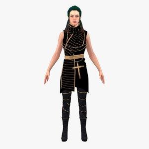 gabriel magic woman rigged 3D