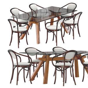 zeus lg table bentwood 3D model