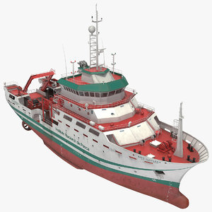 inapesca oceanographic research vessel 3D