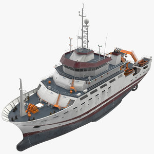 3D multipurpose research vessel sea ocean model