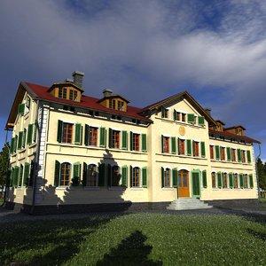 buildings mansions 3D