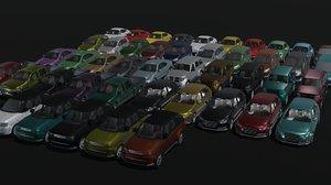 generic passenger car interior 3D model