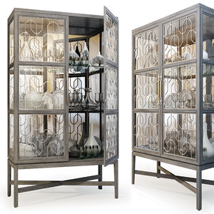 3D ensemble display cabinet carson model